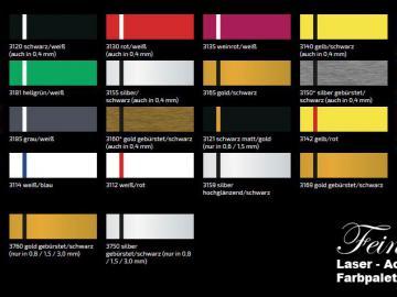 Farbmuster Lasercryl